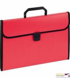 Aktówka harmonijkowa 9112A czerwona EAGLE 120-1220