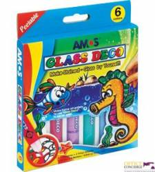 Farby witrażowe AMOS GD10P6 - 10 5 mlx6 kolorów 170-1044