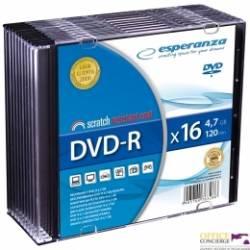 Płyty DVD-R ESPERANZA 47GB x16 SLIM CASE 10szt 1112