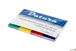 Zakładka indeksująca DATURA 20x50 4x40kartek transparentna(NSP20/50/T/D)