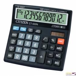 Kalkulator CITIZEN CT-555N/W 12-poz.