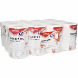 Ręczniki papierowe w roli dwuwarstwowe z celulozy, średnica 130mm, długość rolki 50 m, op. zb. 12 szt