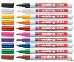 Marker lakierowy 1-2mm 751 czerwony EDDING końcówka okrągła