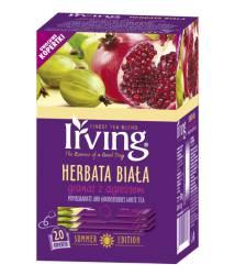 Herbata Irving biała granat z agrestem, 20 torebek w kopertach