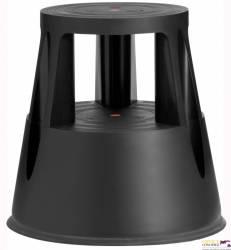 Taboret biurowy Twin Lift czarny dwustopniowy Twinco 6000-1