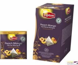 Herbata LIPTON exclusive brzoskwinia i mango, 25 kopert czarna EXCLUSIVE