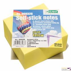 Notes D.RECT 75*75 400 kar żółty LEVIATAN 9326