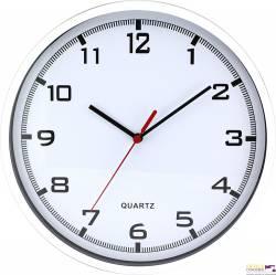 Zegar ścienny plastikowy 255 mm E01.2478 MPM Biały