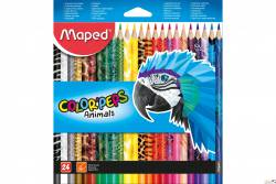 Kredki COLORPEPS ANIMALS trójkątne 24kolorów 832224 MAPED