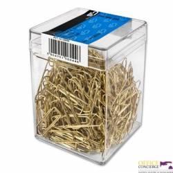 Spinacze złote 32mm (300sztuk) VICTORY plastikowe pudełko