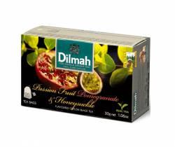 Herbata Dilmah Passionfruit, Pommergranate & Honeysucle - granat, marakuja., 20 torebek z zawieszką