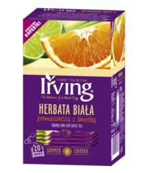 Herbata biała Irving Pomarańcza z limetką, 20 torebek w kopertkach