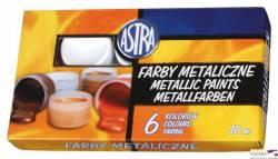 Farby METALICZNE 6kol.A10ml 83411900 ASTRA