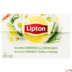 Herbata LIPTON rumianek imbir i trawa cytrynowa, 20 saszetek ziołowa
