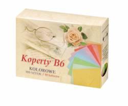 Koperty B6 kolorowe op. 100 szt. (10 kolorów ) Gimar KB6-OG 3