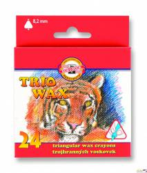 Kredki TRIO WAX   8274/1 24kol 8,2mm KIN