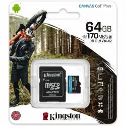 Pamięć MicroSD 64GB KINGSTON 170MB/s SDCG3/64GB + adapter