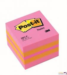 Bloczek 3M POST-IT 51x51mm różowy 400k 2051P FT510091737