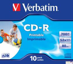 Płyta CD-R VERBATIM JC do nadruku DataLife+AZO 700MB x52  43325