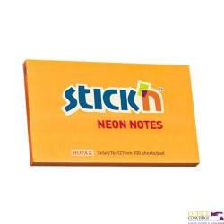 """Bloczek STICK""""N 127x76mm pomarańczowy neonowy 100k 21168 STICK""""N"""