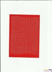 CYFRY samop. 1cm (8) czerwone ARTDRUK