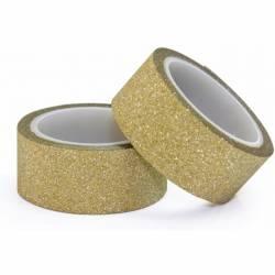 Taśma samop. brokatowa złota 15mmx3m (2) 254000 Galeria Papieru