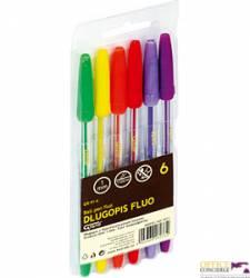 Długopis GRAND Fluo 6kol.GR-91 160-2011