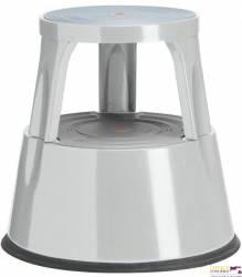 Taboret biurowy Twin Steel szary dwustopniowy metalowy Twinco 6300-9