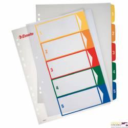 Przekładki plastikowe ESSELTE 1-5 do zadruku 100211