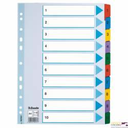 Przekładki kartonowe MYLAR A4 1-10 100161 białe ESSELTE