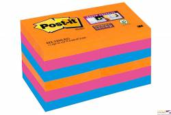 Bloczki 3M POST-IT 51x51mm BANGKOK 12x90 kartek, Super Sticky 70005252104