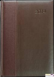 Kalendarz A5 STANDARD książkowy (KS1), 22 - szara juta / kapitałka 140 x 200 mm TELEGRAPH