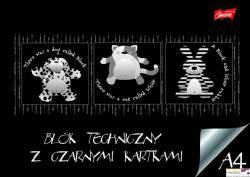 Blok tech czarne kar.  A4 10kartek 180g/m2 UNIPAP