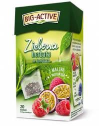Herbata BIG-ACTIVE malina z marakują, zielona 20 torebek