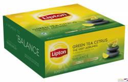 Herbata LIPTON Green Tea Citrus (100 kopert w folii) zielona
