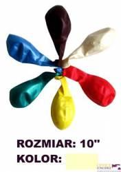 Balony 10 METALIK krem. (100) KW TRADE  170-1589