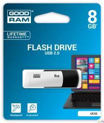 Pamięć USB GOODRAM 8GB UCO2 czarno-biały USB 2.0 UCO2-0080KWR11