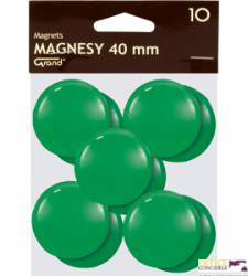 Magnesy 40mm GRAND zielone   (10)^ 130-1703