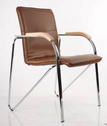 Krzesło SAMBA CHROME V49 brąz DREWNO ORANŻ 1010 NOWY STYL