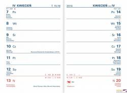 Kalendarz TIK kieszonkowy (K1) 82 x 120 mm TELEGRAPH