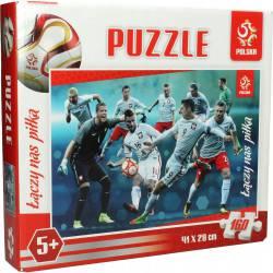 Puzzle 160 elementów Reprezentacja Polski  INTERDRUK