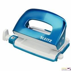 Dziurkacz mini LEITZ WOW metalowy niebieski metalik 50601036