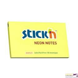 """Bloczek STICK""""N 127x76mm żółty neonowy 100k 21135 STICK""""N"""