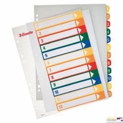 Przekładki plastikowe ESSELTE 1-12 do zadruku 100214