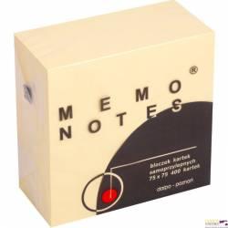 Kostka MEMO 75*75/ 400 kartek żółta DALPO