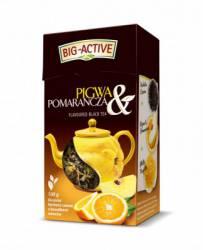 Herbata Big-active brzoskwinia i pomarańcza, liściasta, 80 g