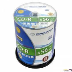 CD-R ESPERANZA Silver - Cake Box 100 2201