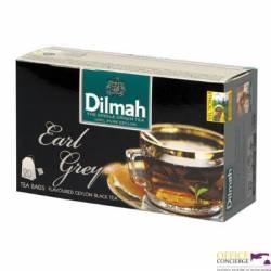 Herbata DILMAH earl grey, 20 saszetek, czarna