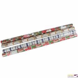 Papier pakowy ozdobny w rolce 2 metry x 0,7m, świecący BN HERLITZ (60) 0009570839
