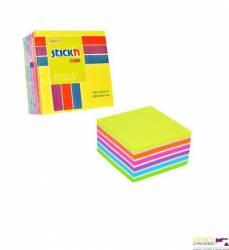 "Bloczek STICK""N 76x76mm 400 kartek, mix neonowy 6 kolorów 21539"